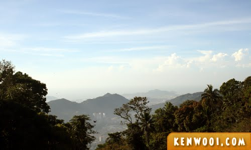 penang hill view blue sky