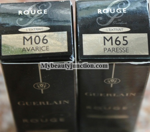 Guerlain Rouge G L'Extrait lipsticks review, swatches and photos