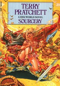 Cover of Sourcery, a novel by Terry Pratchett