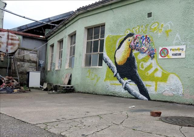 Street Art Murals By Martin Whatson In Stavanger Norway For Nuart Urban Art Festival. 10