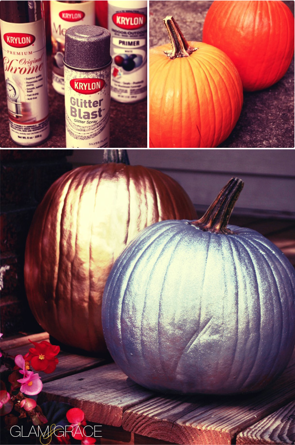 DIY: Fall Decor - Metallic and Glitter Pumpkins