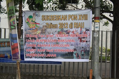 sukseskan Pon XVIII Riau 2012