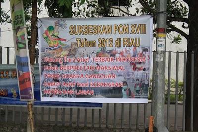 sukseskan Pon XVIII Riau 2012