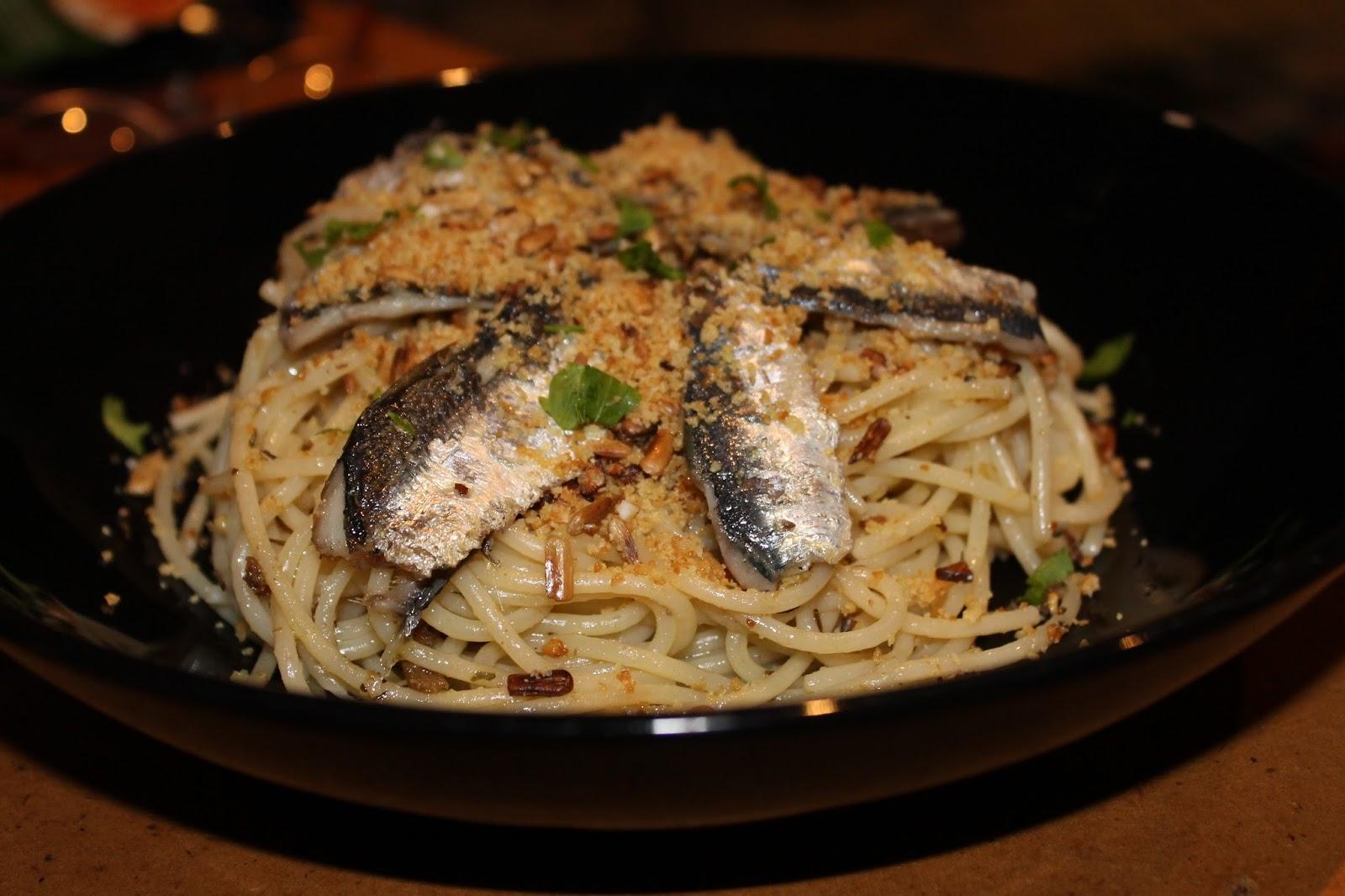 Diana 39 s cook blog spaghetti aux sardines la sicilienne - Cuisiner des filets de sardines fraiches ...