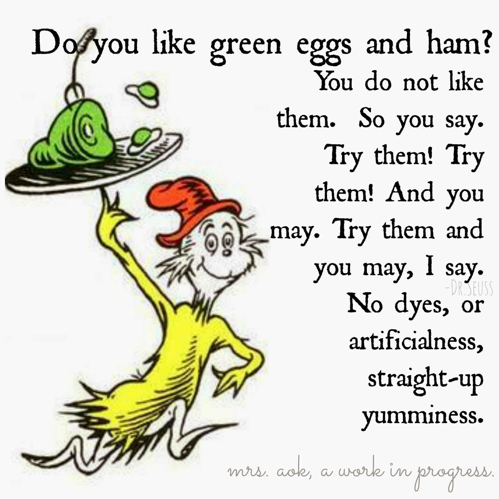 Work in Progress: Green Eggs And Ham with a Natural Latina Flair
