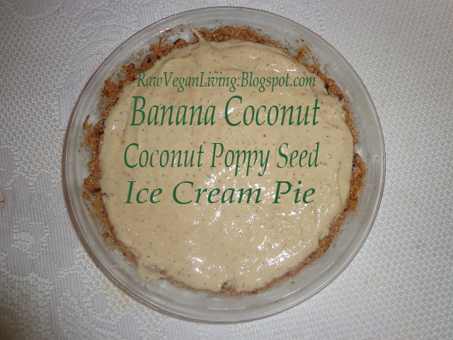 fresh coconut banana poppy seed pie