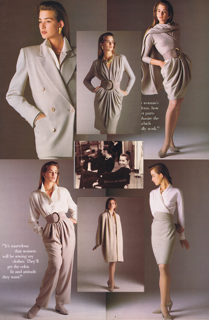 Donna Karan photographed by Lynn Kohlman & her 7 Easy Pieces featured in Vogue Patterns 1987