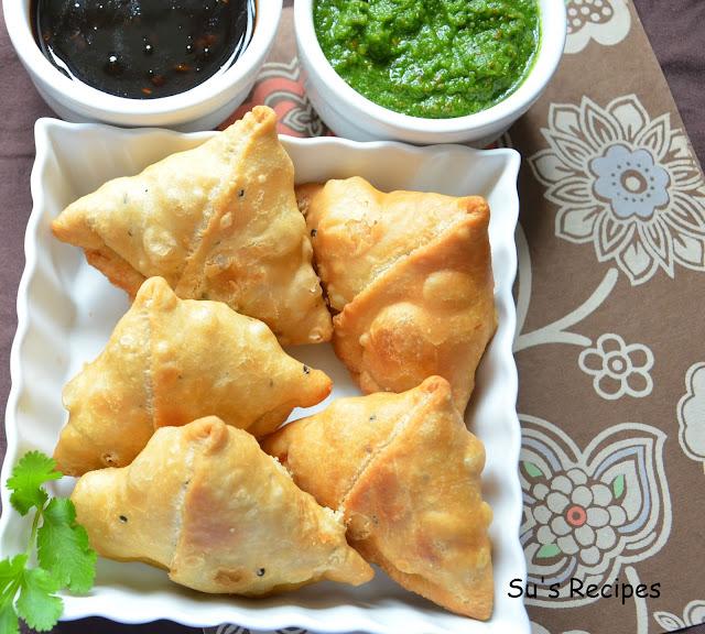 Aloo Samosa, samosa, potato pastry, potato filled pastry, potato snack