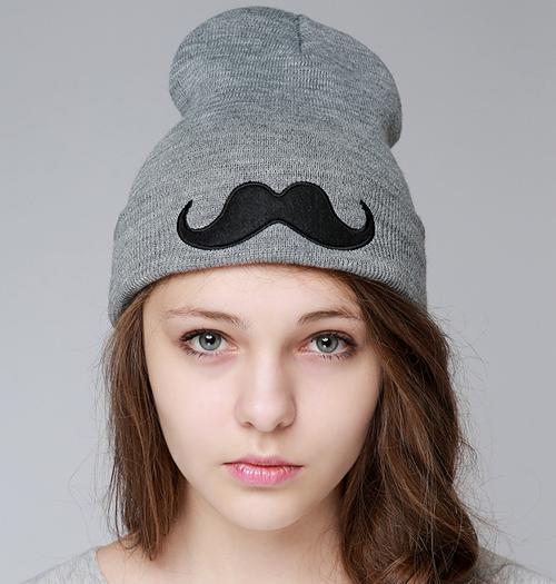 Mustache Beanie