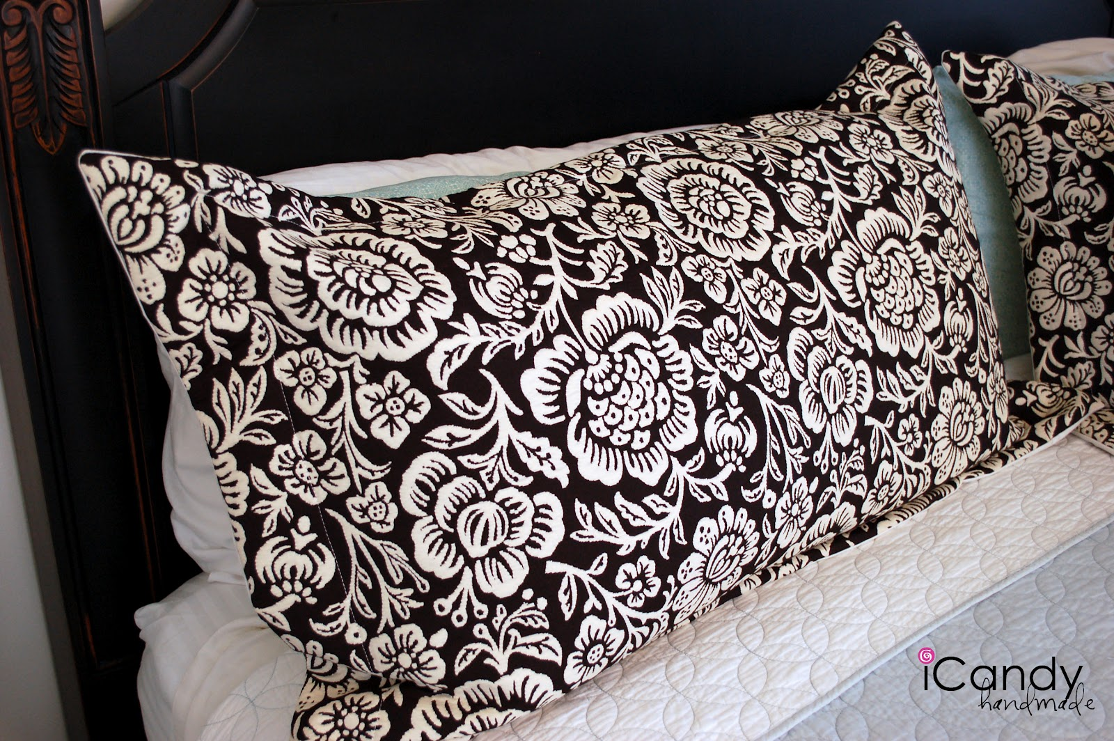 Pillow Sham Patterns Free: DIY King sized Pillow Shams and Bed Makeover   iCandy handmade,
