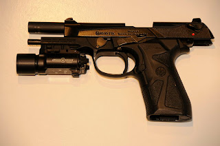 Beretta 90-Two fitted with a flashlight