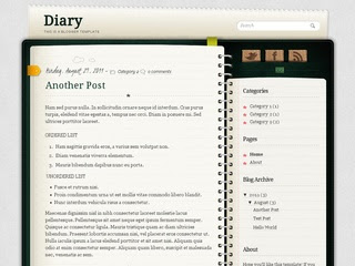 Notebook Blogger Templates