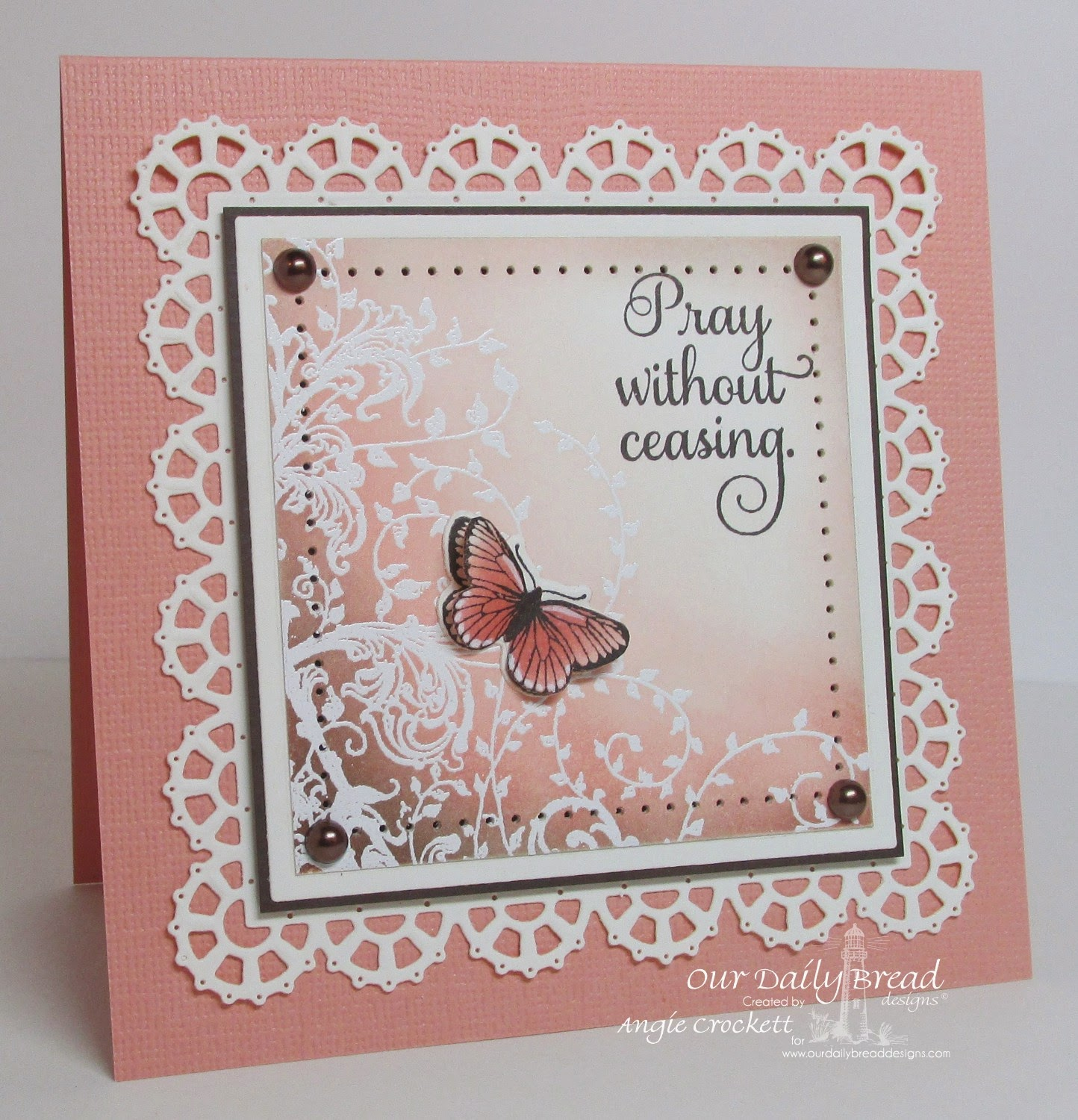 ODBD Belles Vignes, ODBD Butterfly and Bugs, ODBD Custom Butterfly and Bugs Dies, Card Designer Angie Crockett