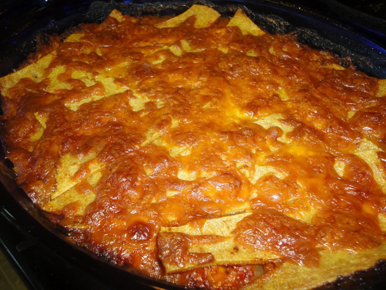 Chicken Enchilada Casserole Enchilada casserole