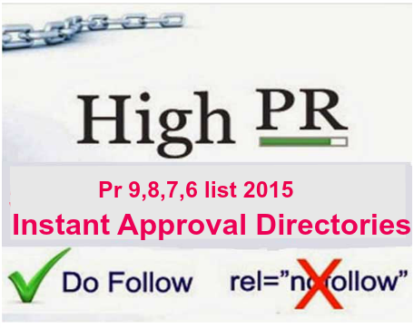 pr 9,8,7,6 instant approval do follow directories
