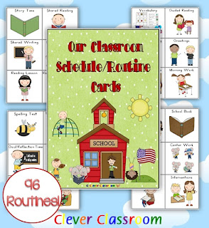 Our Classroom Schedule Routine Cards