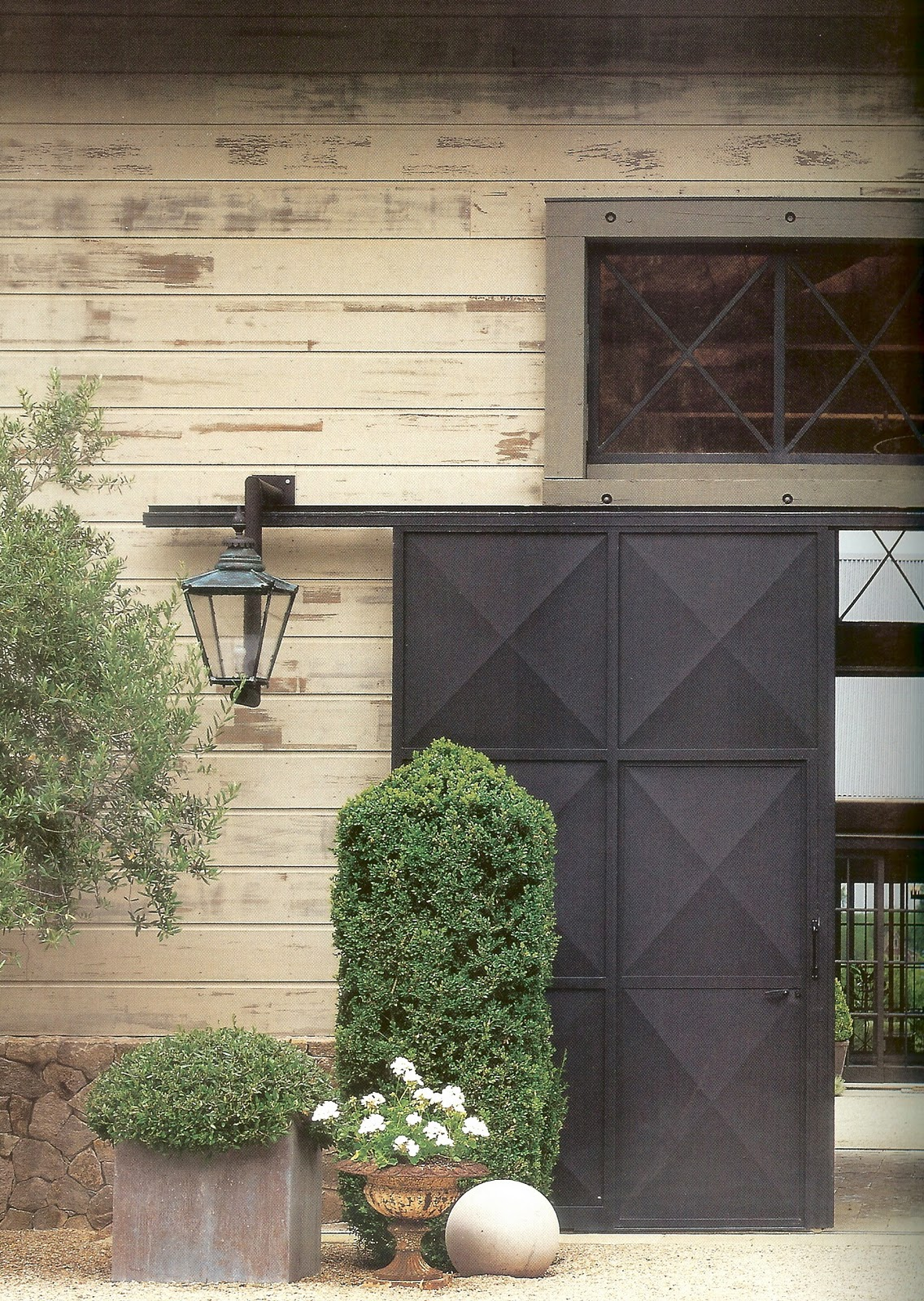 A j barnes classic urns part 2 planters for Exterior barn doors for house