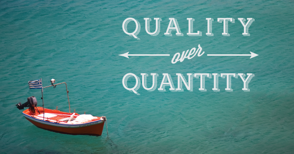 Quality over quantity typography