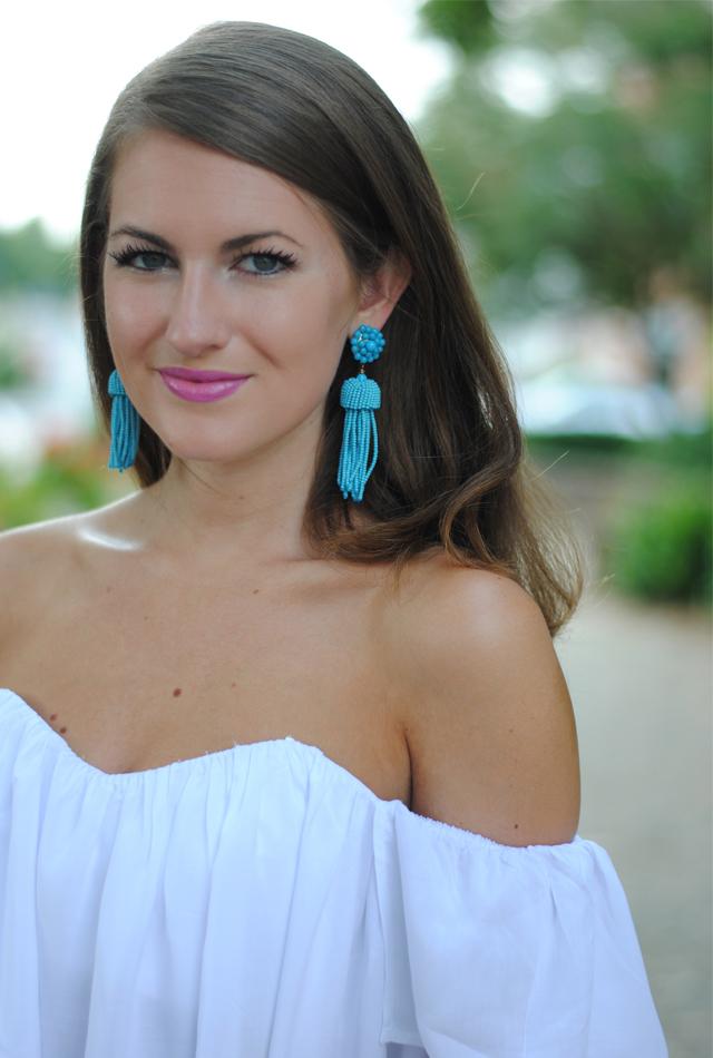 Turquoise tassel earings