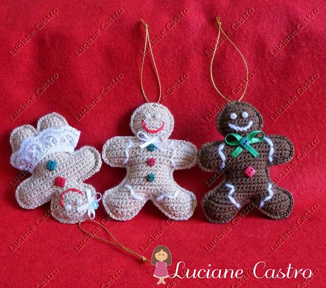 Gingerbread (Biscoitinhos )Croche
