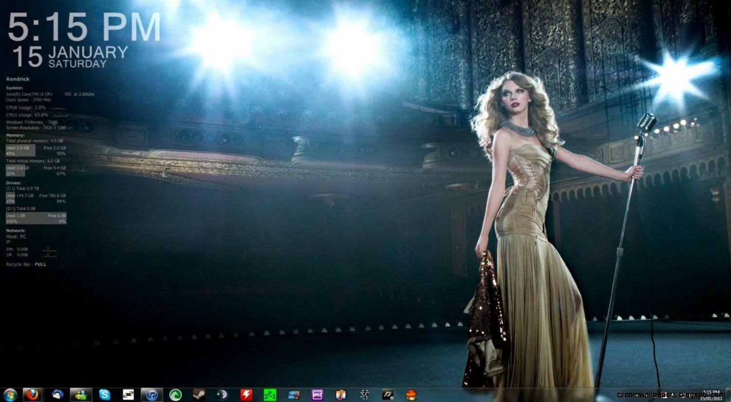 digital clock desktop background