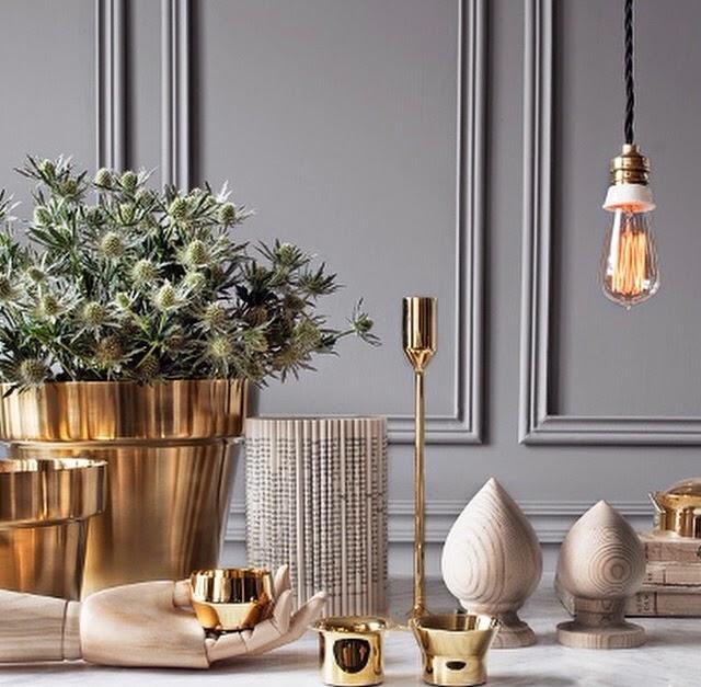 Decorar con oro, plata y cobre y conseguir un look vintage y diferente