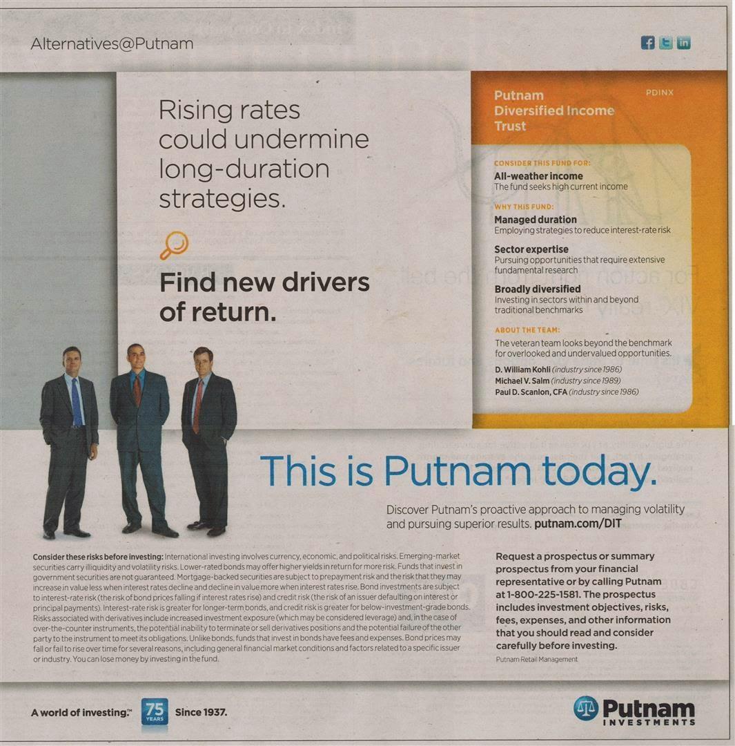 Ad of Putnam Diversified Income Trust Fund (PDINX)