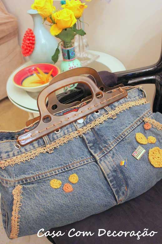 Faça Você Mesmo- Transformei uma calça jeans em bolsa