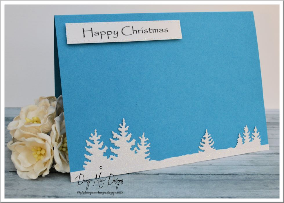 Blue, snowy scene, Christmas