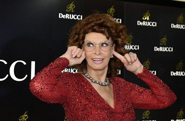 The courageous color and no sleepy idea were drawing as Sophia Loren took her never old step at the furniture fair 'imm Cologne' in Germany on Monday, January 19, 2015.