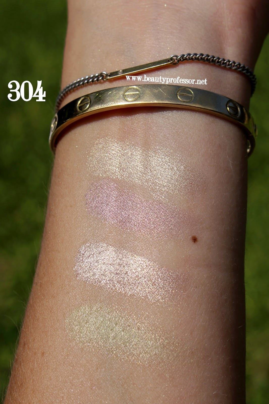 Cle de peau eye color quad 304 champagne supernova swatches