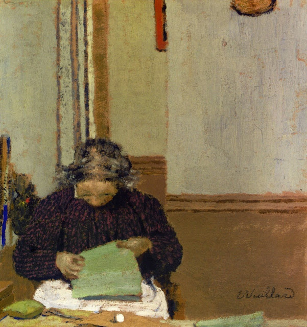 Mme Vuillard cousant de Edouard Vuillard, 1895