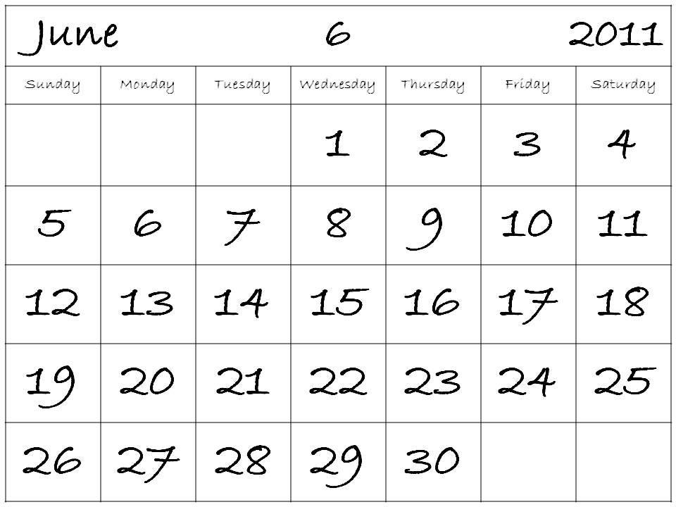 june calendar 2011. june calendar 2011 printable.