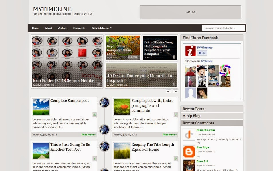 My TimeLine Blogger Template ReTemplate - Timeline blogger template