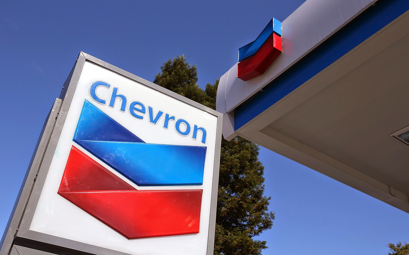 A Chevron gas station location