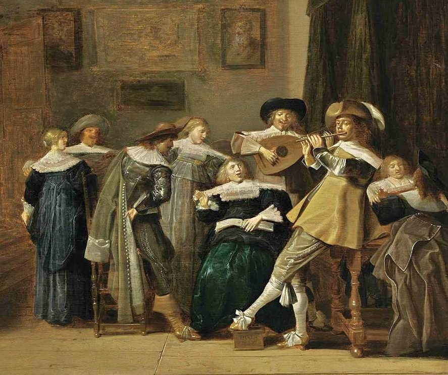 It 39 s about time 1600s merry company indoors for Famous artist in baroque period