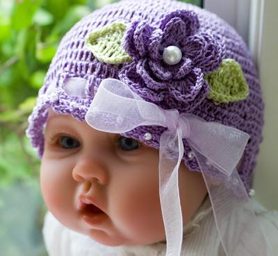 Mor Şapkalı Bal Yanaklı Tombik Bebek