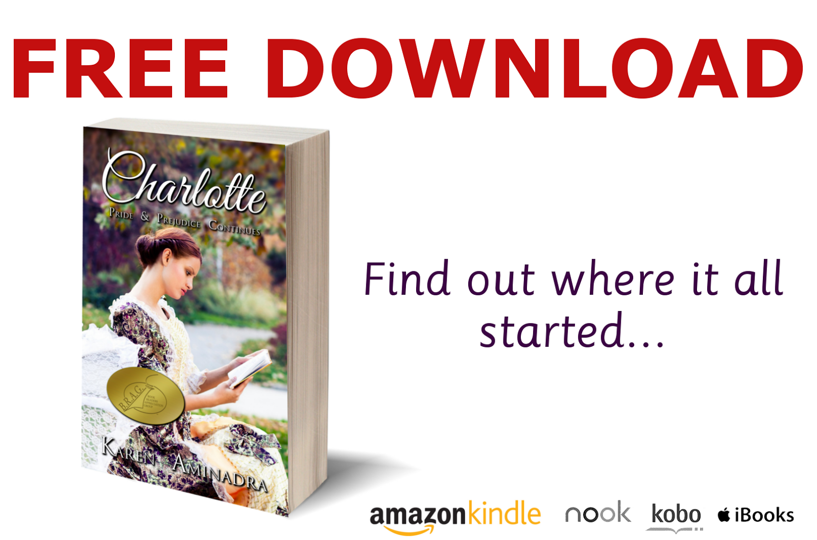 Join My Historical Fiction Mailing List And Get CHARLOTTE For FREE!