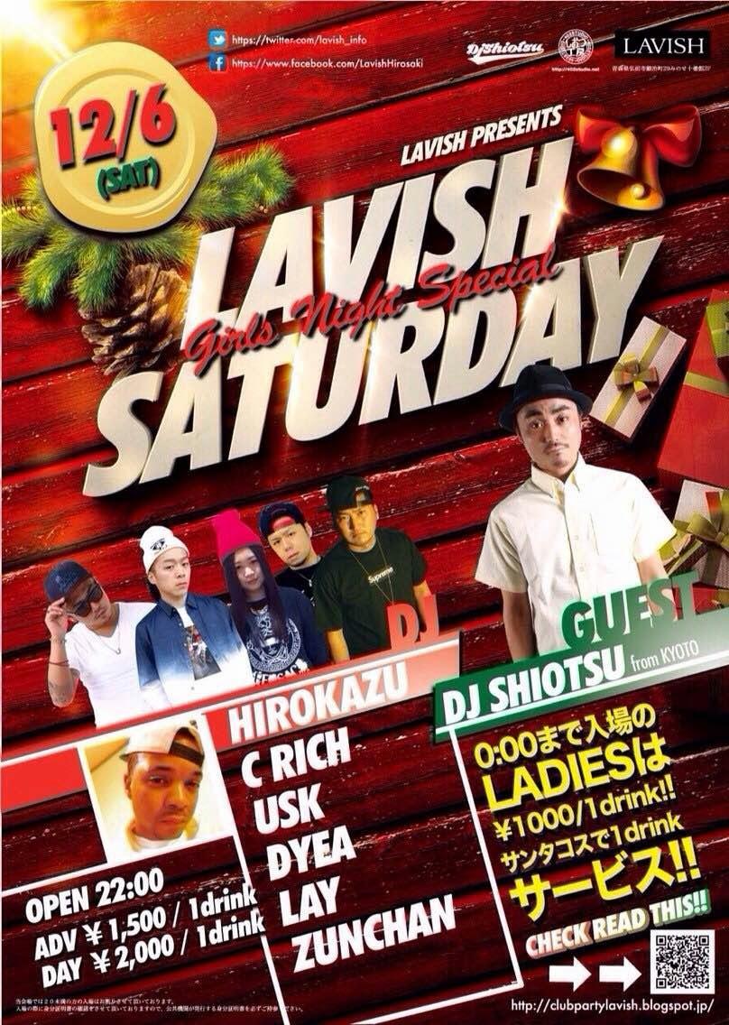 12/6 LAVISH SATURDAY