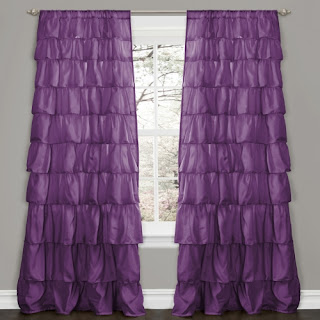 Ruffle rod curtains