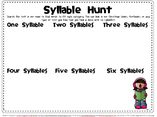 Christmas Syllable Hunt