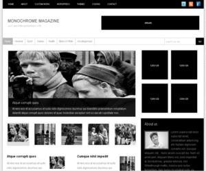 Monochrome Magazine Blogger Template