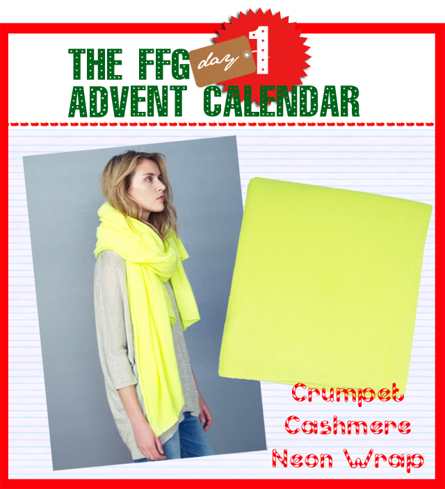 Crumpet Cashmere Neon Wrap
