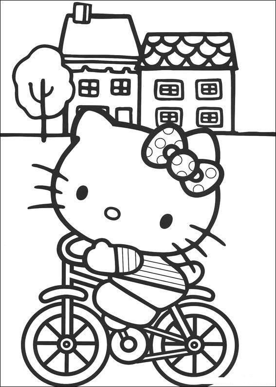 Hellokitty coloriage