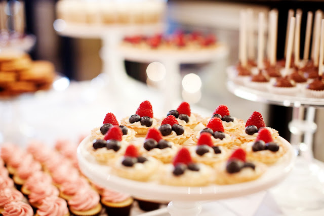 Miniature Dessert Table Fresh Fruit Tartlets