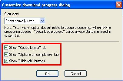 internetr download manager how to unhide tabs