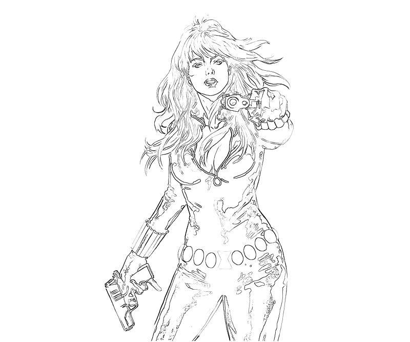free coloring pages of black widow marvel