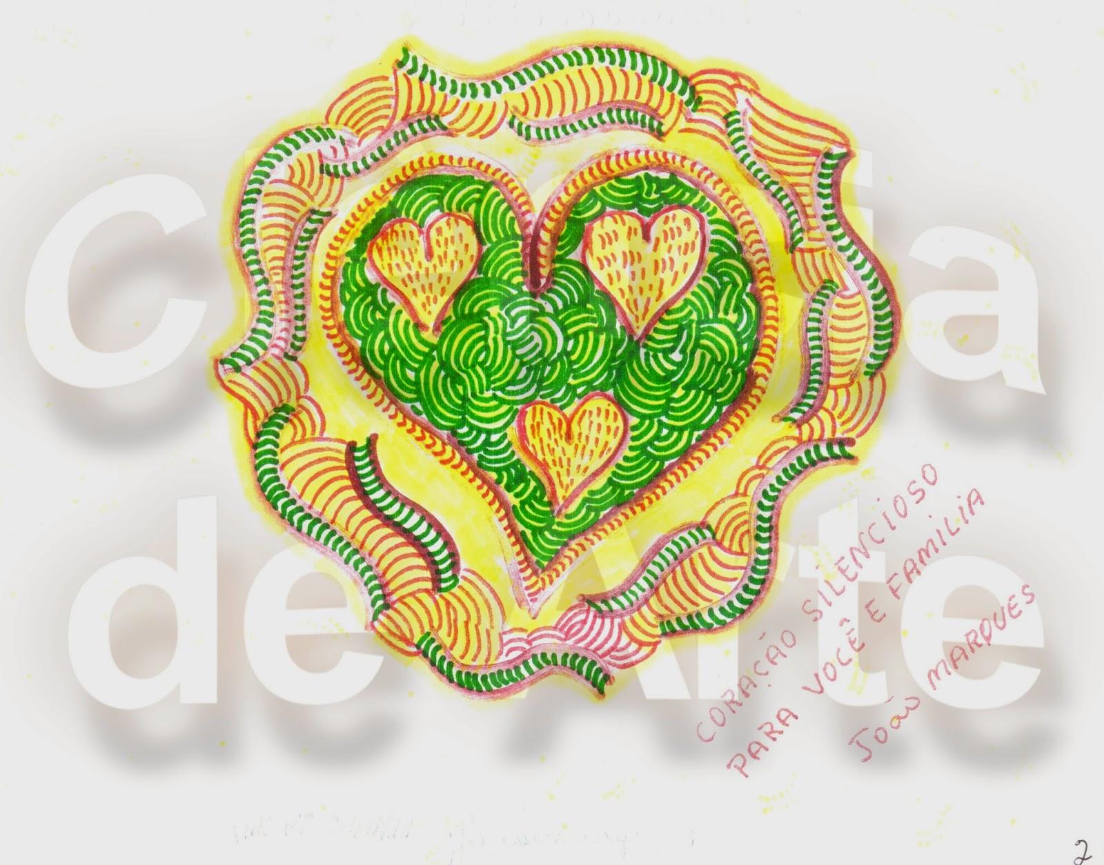 desenhos de coração - coração silencioso