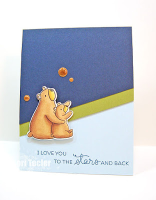 I Love You to the Stars and Back card-designed by Lori Tecler/Inking Aloud-stamps and dies from Mama Elephant