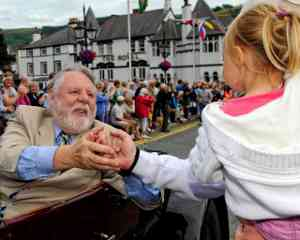 terry waite at llangollen eisteddfod parade of nations